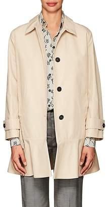 Prada Women's Peplum-Hem Tech-Cotton Coat