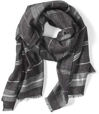 Banana Republic Metallic Stripe Rectangular Scarf