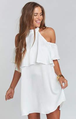 Show Me Your Mumu Kaitlin Ruffle Dress ~ White Sheen