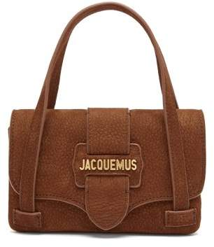 Jacquemus - Le Minho Suede Mini Bag - Womens - Light Brown