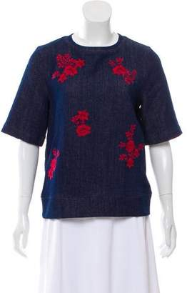 Draper James Embroidered Knit Top