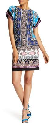 Sandra Darren Tapestry Pattern Stretch Dress