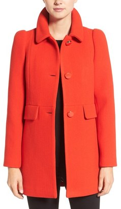 Kate Spade New York Wool Blend A-Line Coat $378 thestylecure.com