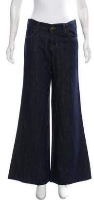 J Brand Mid- Rise Linen- Blend Jeans