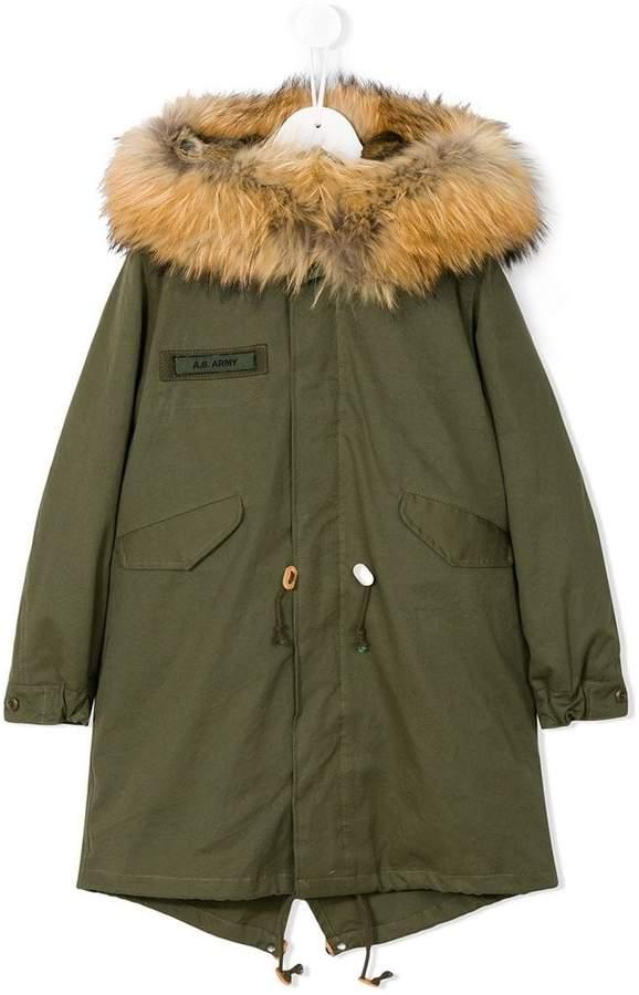 As65 Kids appliqué parka coat