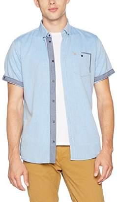 Tom Tailor Men's Ray Herringbone Chambray Shirt Slim Fit Casual Shirt,M (Manufacturer Size: M)