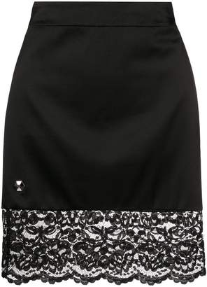 Philipp Plein lace trim mini skirt