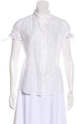 RED Valentino Short Sleeve Tie-Accented Top
