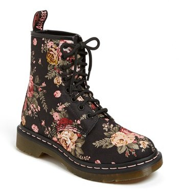 Dr. Martens '8-Eye Victorian Flowers' Boot (Women)