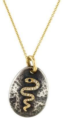 Sara Weinstock Diamond Snake Pendant Necklace