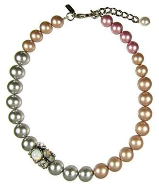 Crystal Pearl Vickisarge London Women Grey Necklace of Length 49cm S18AGNL00