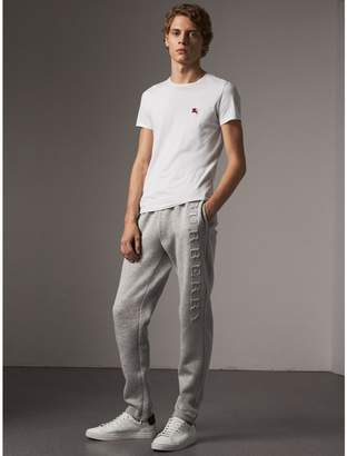 Burberry Embroidered Jersey Sweatpants