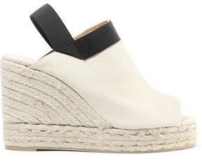Castaner Brenda Cotton-canvas Wedge Espadrille Slingback Sandals