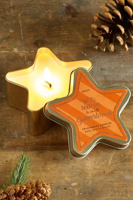 Next Gingerbread Star Shaped Tin Candle