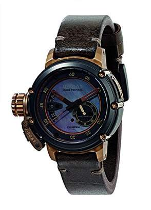 U-Boat Chimera 43 B and B MOP Auto Unisex Automatic Watch with Mother Of Pearl Dial Analogue Display and Brown Leather Strap U8069