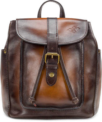 Patricia Nash Aberdeen Stained Leather Backpack