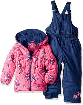Pink Platinum Little Girls' Floral Print Snowsuit
