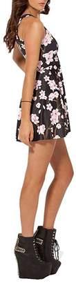 Spearss Dresses Spearss Hot Summer Pleated Knee-Length Reversible Spandex Skater Sun Dress for Women