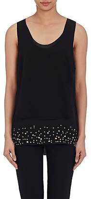 Foundrae FOUNDRAE WOMEN'S STUDDED LAYERED TOP
