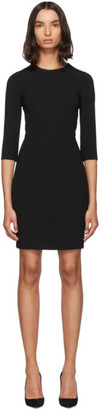 Dolce & Gabbana Black Three-Quarter Sleeve Mini Dress