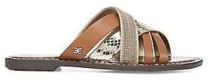 Sam Edelman Women's Glennia Leather Slides Sandals
