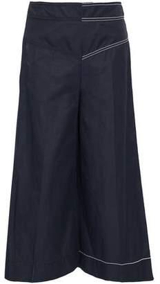Stella McCartney Button-Detailed Twill Wide-Leg Pants