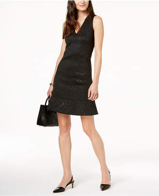 Michael Kors MICHAEL Embossed Faux-Leather Dress