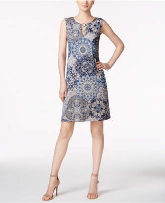 Msk Medallion-Print Ring Dress $69 thestylecure.com