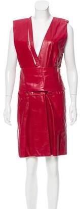 Reed Krakoff Pleated Leather Dress w/ Tags