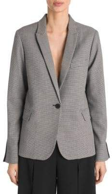 Stella McCartney Micro Tweed Mixed Media Blazer