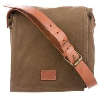 Dolce & Gabbana Leather-Trimmed Canvas Messenger Bag