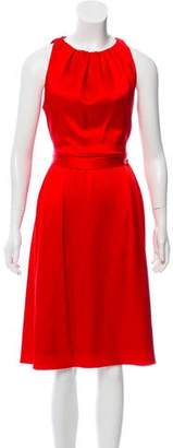 Celine Sleeveless Satin Dress