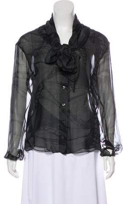 Vena Cava Silk Button-Up Top