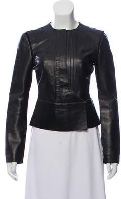 Derek Lam Leather Paneled Jacket