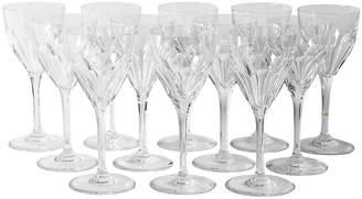 One Kings Lane Vintage Saint Louis Glassware - Set of 12 - La Maison Supreme
