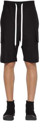 Neil Barrett Wool Blend Gabardine Cargo Shorts