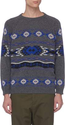 Hunting World Navajo jacquard wool blend sweater