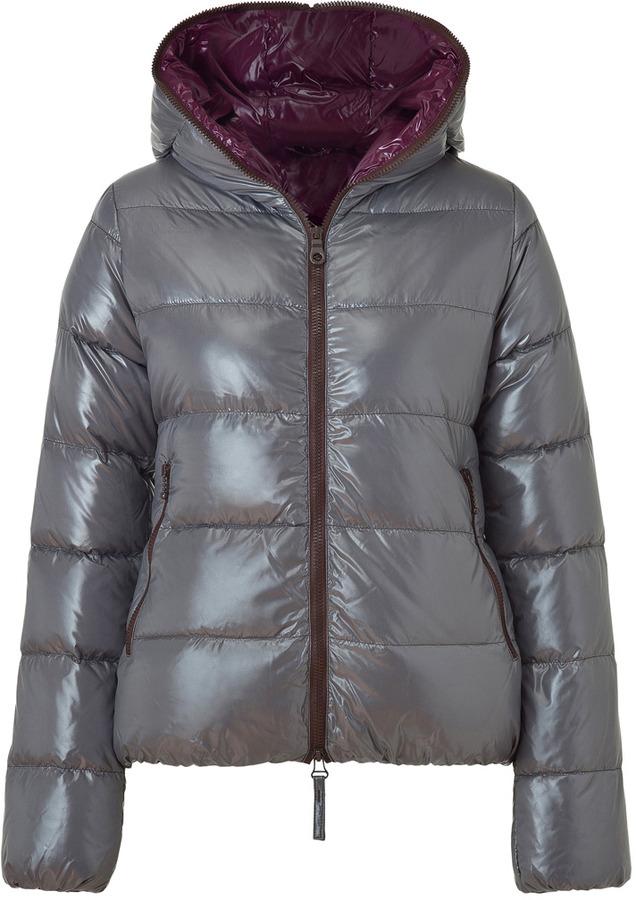 Duvetica Silver Grey Thia Full Zip Down Jacket