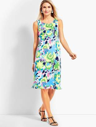 Talbots Island Floral Sateen Sheath Dress