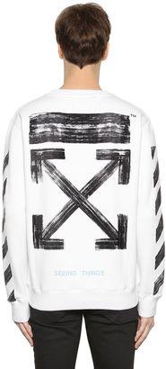 Stripes & Arrows Logo Cotton Sweatshirt $459 thestylecure.com