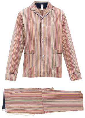 Paul Smith Signature Striped Cotton Pyjama Set - Mens - Multi
