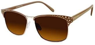 Southpole Women's 450sp-Gldnd Rectangular Sunglasses