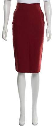 STAUD Knee-Length Pencil Skirt