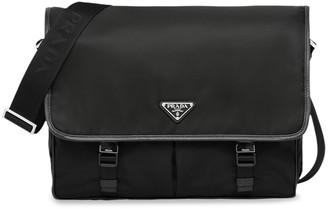 Prada flap front messenger bag