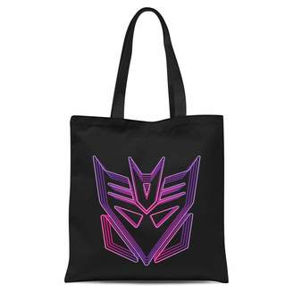 Transformers Neon Decepticon Tote Bag