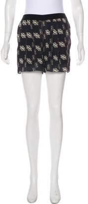 Theyskens' Theory Silk Printed Shorts