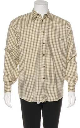 Canali Windowpane Woven Shirt