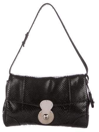 Ralph Lauren Snakeskin Ricky ID Chain Bag