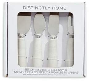 Distinctly Home Set of 4 Marble Cheese Knives