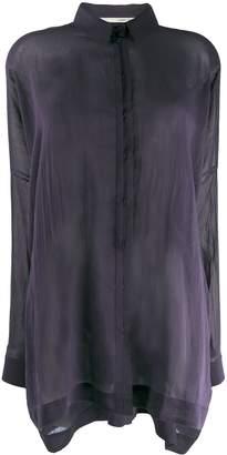 Isabel Benenato sheer batwing sleeve shirt